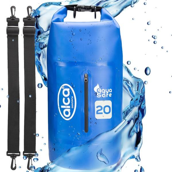 Wasserdichter Packsack mit Reißverschlusstasche 20L
