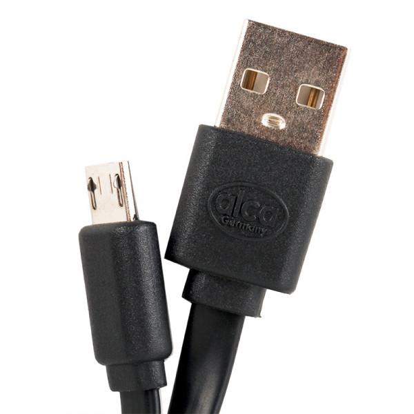 Micro USB 2.0 Handy Ladekabel schwarz