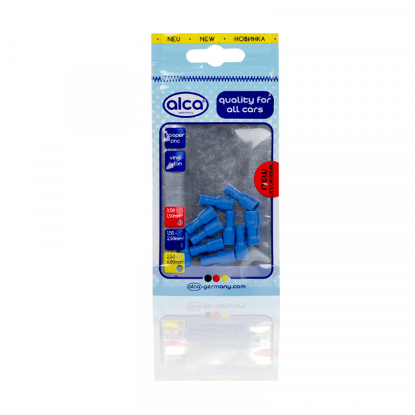Flachsteckhülsen vollisoliert blau 5,6mm 10St.