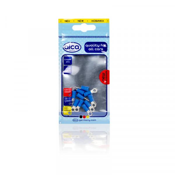 Ring-Kabelschuhe blau 4,3mm 10St.