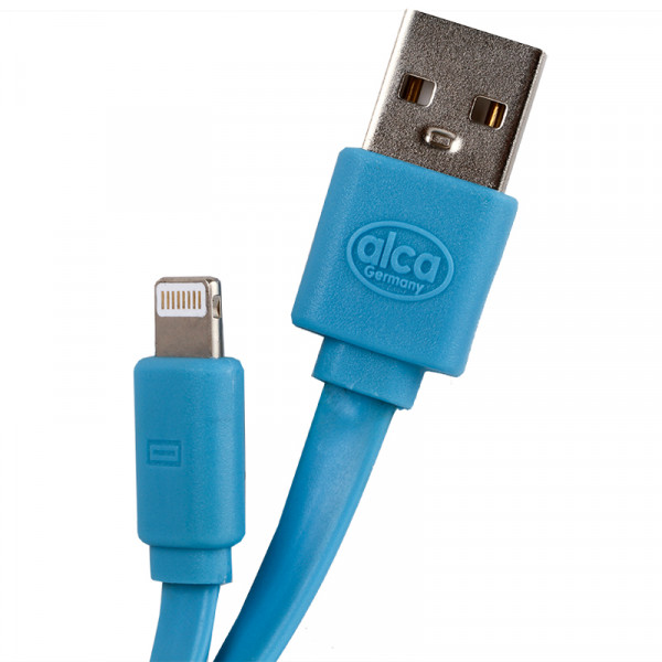 Lightning USB 2.0 Handy Ladekabel blau