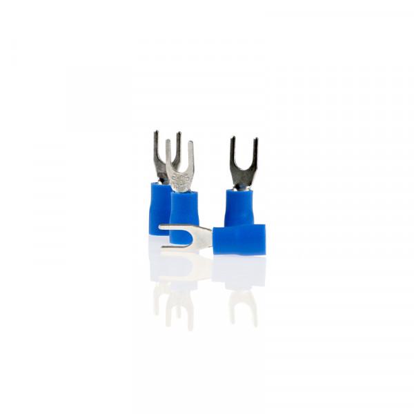 Gabel-Kabelschuhe blau 4,3mm 10St.