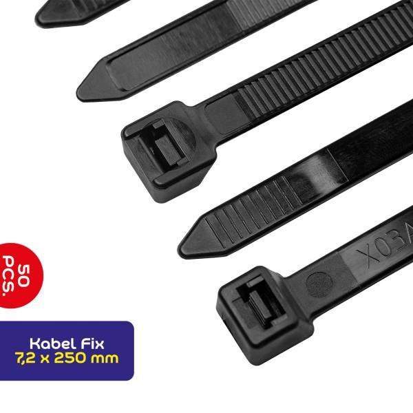 Kabelbinder 7,2*250mm 50 St. schwarz