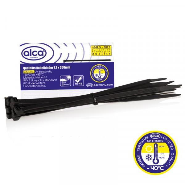 Kabelbinder 7,2*200mm 50 St. schwarz