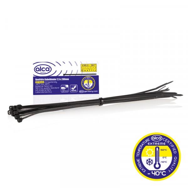 Kabelbinder 2,5*200mm 100 St. schwarz