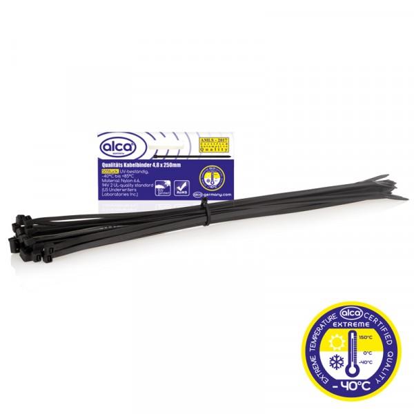 Kabelbinder 4,8*250mm 50 St. schwarz
