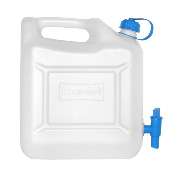 Wasserkanister 12 L natur mit Ablasshahn