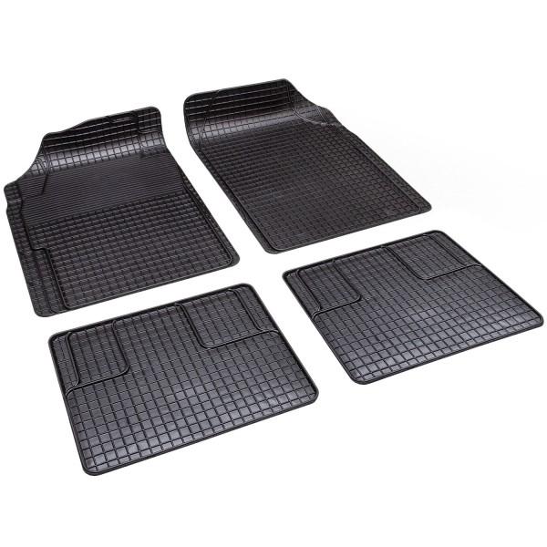 Gummi-Fußmatten schwarz 4er-Set (Global Super Action)