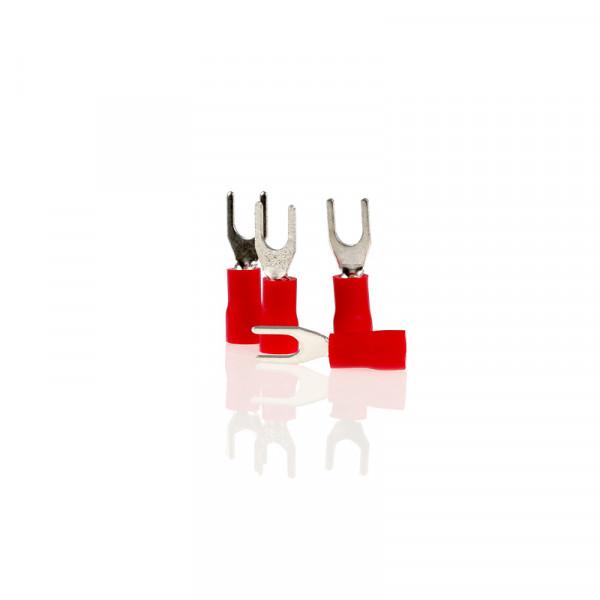 Gabel-Kabelschuhe rot 4,3mm 10St.