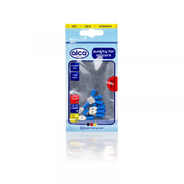 Flachstecker blau 6,35mm 10St.
