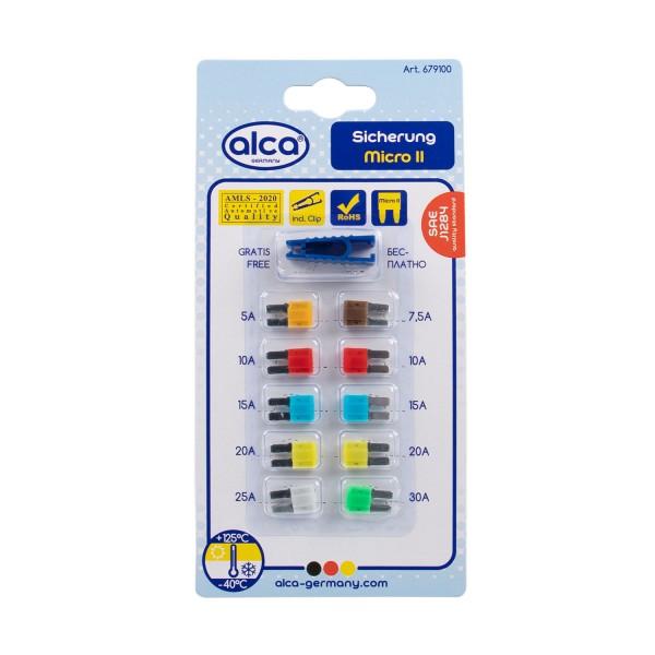 Mini Flach-Sicherungen 5 - 30 A, 10 St. Blister