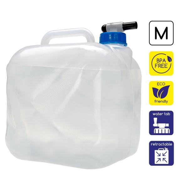 Faltbarer Wasserkanister 10L mit Ablasshahn