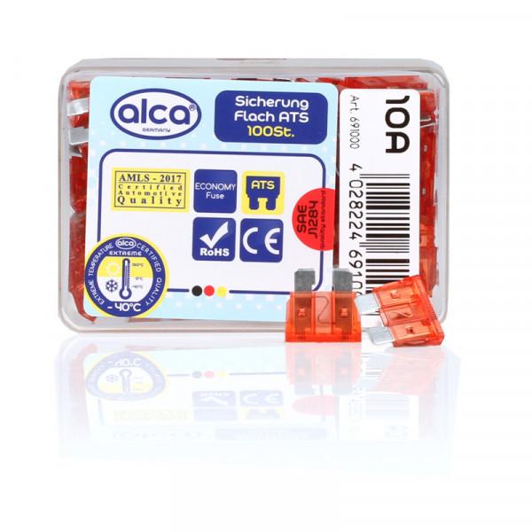 Flach-Sicherungen 10 A, 100 St. Economy Box