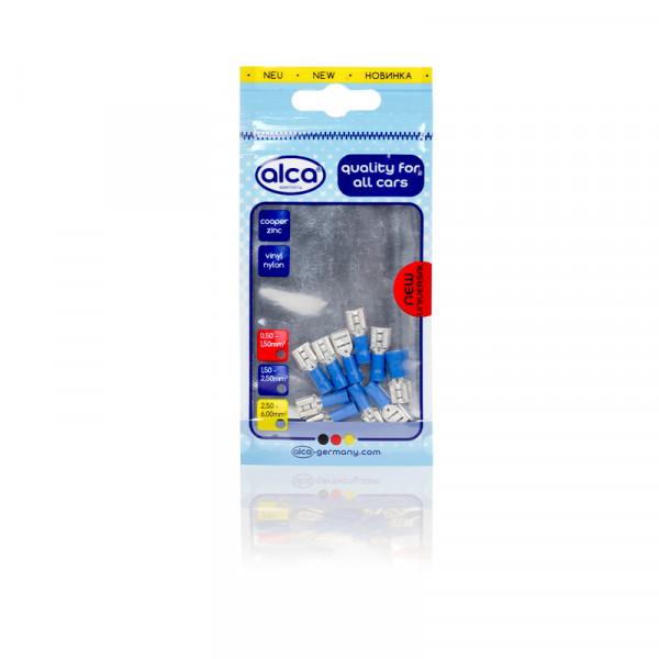 Flachsteckhülsen blau 6,35mm 10St.