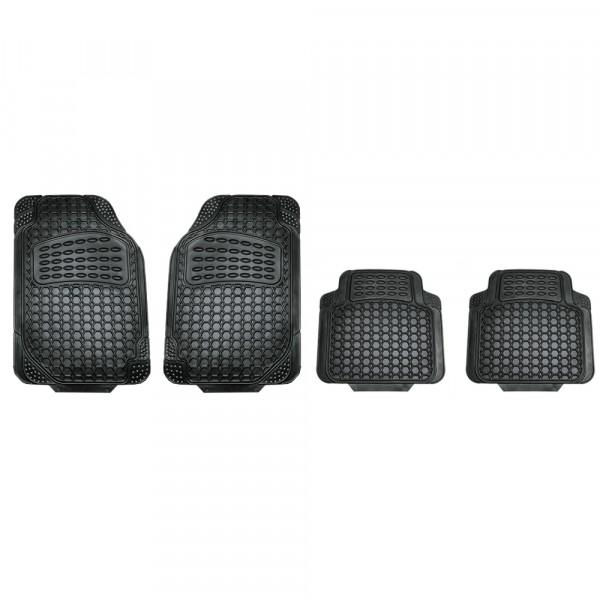 Gummi-Fußmatten schwarz 4er-Set